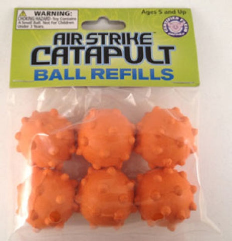 Air Strike Catapult Ball Refills Orange - (6 per Pack)