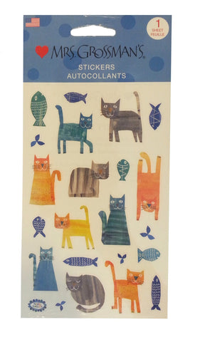 Mrs. Grossman's Stickers Collaged Cats