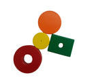 Painted Ceramic Magnets - Set of 40 Assorted Colors of Disc, Latch & Ring Shape