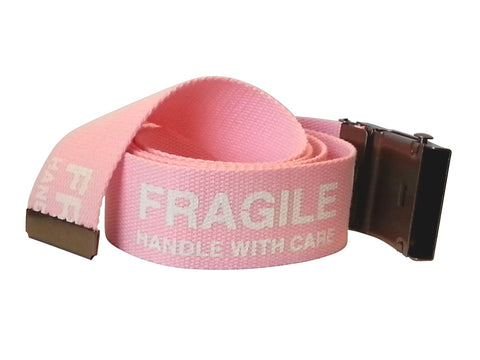 Trendy Women's Adjustable Web Belt by Wanted FRAGILE