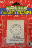 Small Clock Rubber Stamper Time Teaching Aid