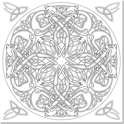 Celtic Designs Adult Coloring Book Studio Series By Peter Pauper