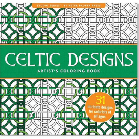 Celtic Designs Adult Coloring Book Studio Series by Peter Pauper Press