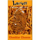 Cheddar Cheese Flavored Larvets Worm Snax, Box of 24, by Hotlix