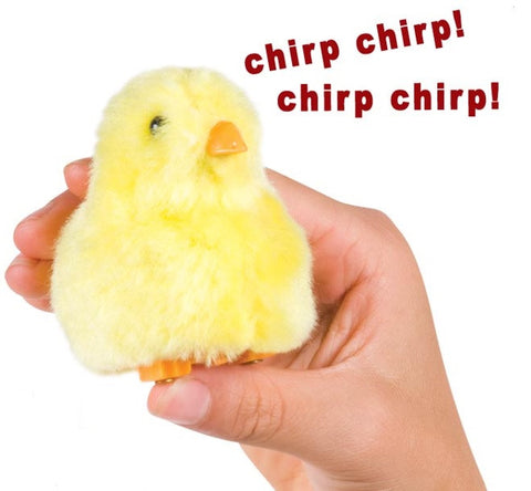 Chirping Chick Fuzzy Novelty Toy