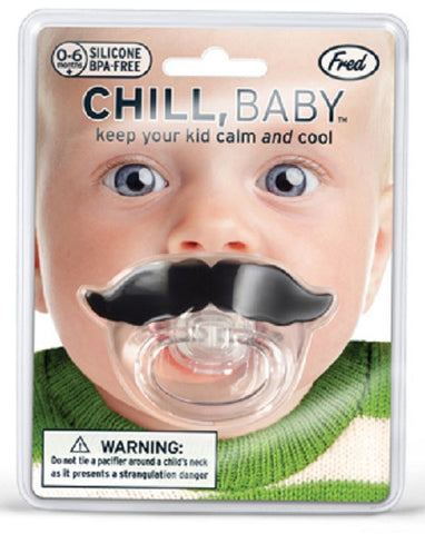 Chill Baby Novelty Infant Pacifier w Mustache