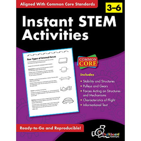 Instant STEM  Activities - Grades 3-6 - Common Core Standards