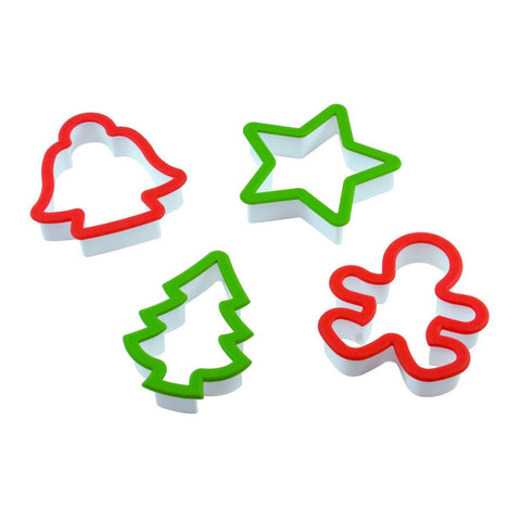 4 Piece Christmas Cookie Cutter Set - Cooking Supplies - Curious Chef