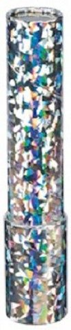 9 inch Classic Kaleidoscope Viewing Toy: Chroma Vision Holographic Silver Sparkly