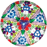 9 inch Classic Kaleidoscope Viewing Toy: Chroma Vision Holographic Red w/Swirls