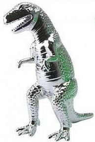 Tyrannosaurus Rex Ceramic Figure Chrome 10 Inches Tall