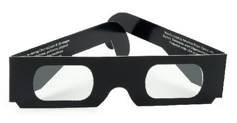 Chromadepth 3D Glasses in Black Paper Frames-Pack of 5