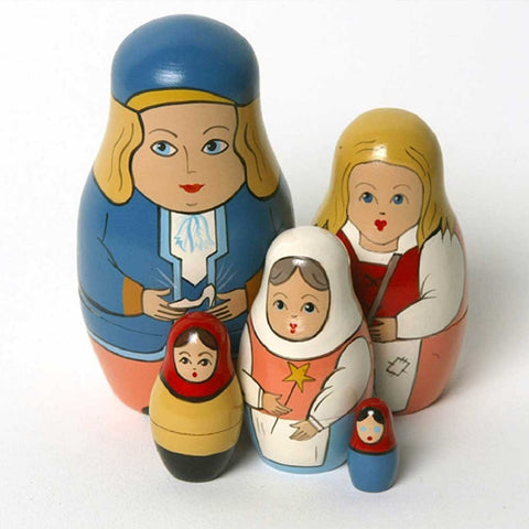 Cinderella Matryoshka Russian Nesting Dolls - Set of 5