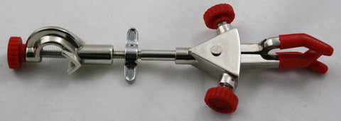 3 Prong Extension Clamp with Boss Head and PVC Coated Grips