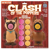 Clash of the Poppers (Cat vs Dog) - 2 Foam Ball Toy Shooters with 12 Foam Balls