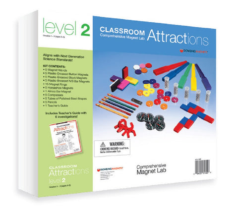 Classroom Attractions Level 2 Kit Magnetic Lab - Magnets & Teachers Guide