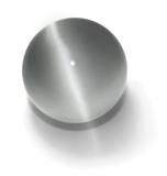Gray/White 50mm Cat's Eye Orb Gemstone Large Crystal Ball w Glass Stand