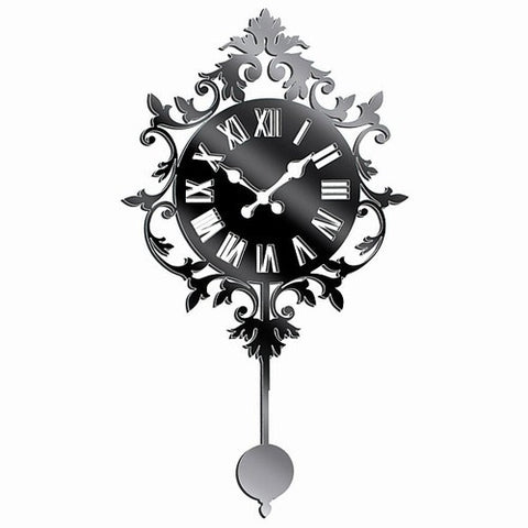 Wall Clock Plexi-Mirror Wall Stickers with Adhesive Backing