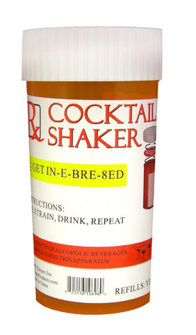 Rx Cocktail Shaker - Large Prescription Bottle Shaped Cocktail Shaker