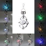 Solar Powered Silver Cosmix Spinner w/Color Changing LED Illuminated Orb
