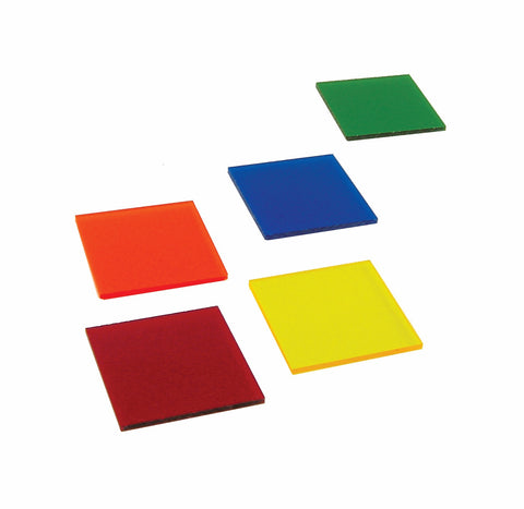 Color Filters Acrylic - Set of Five Colors 2 x 2 Inch Slabs