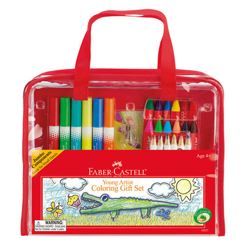 Kids Young Artist Coloring Gift Set - Childrens Beginners Kit