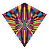 X Kites ColorMax Retro Nylon Multi-Colored Kite - 25 Inches Wide