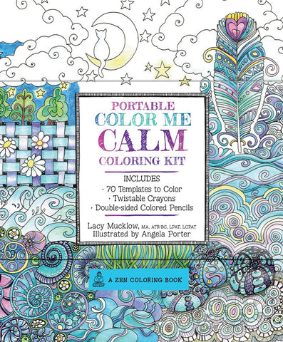 Portable Color Me Calm Zen Coloring Book Kit