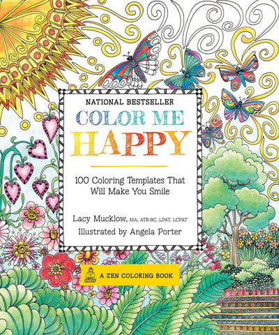 Portable Color Me Happy Zen Coloring Book Kit