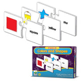 Match It! COLORS & SHAPES Activity-26 Puzzle Pairs