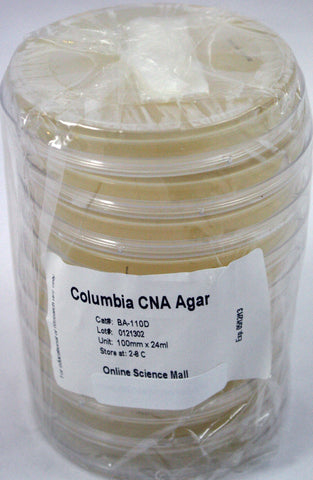 10 Pre-Poured Plates of Columbia CNA Agar - Online Science Mall