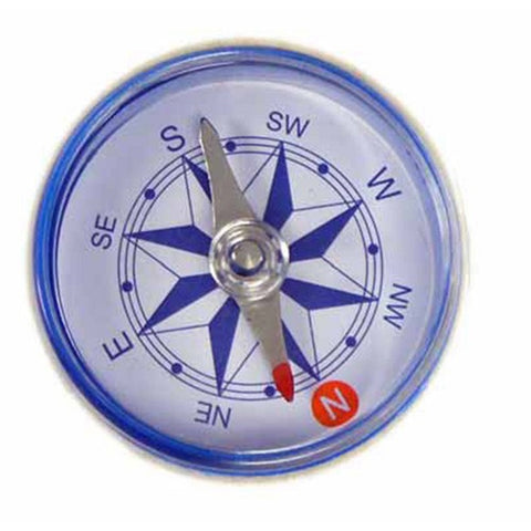 Blue Plastic Magnetic Compass 1.5 Inches (38mm) Diameter for Classroom Education
