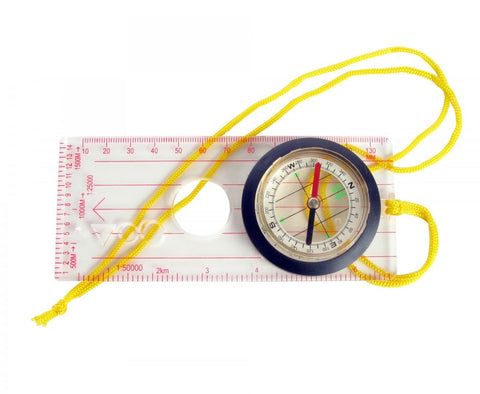 Liquid Filled Magnetic Map Compass for Reading & Measuring Maps