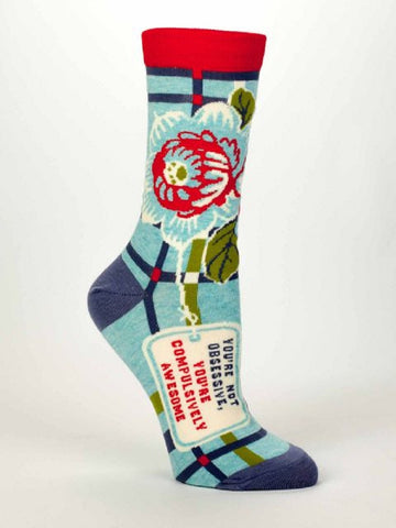 Compulsively Awesome Women's Dress Socks by Blue Q