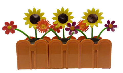 Solar Powered Dancing Fall Flowers Connectable Set of 3