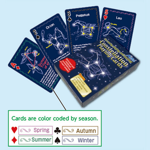 Illustrated and Explained Constellation Playing Cards By Artec