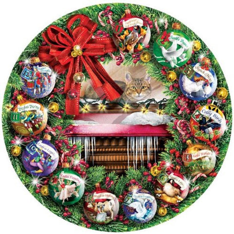 Counting the Days - Round Holiday Jigsaw Puzzle - 1000 pc