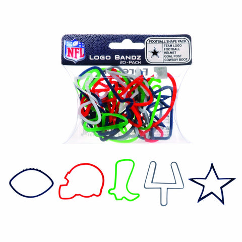 Dallas Cowboys NFL licensed Logo Bandz Rubber Bands 20pk