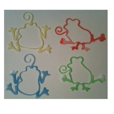 Crazy Frogs Glow-in-the-Dark and Tie-Dye Rubber Band Bracelets 16pk