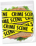 Crime Scene& Quarantine Sandwich Bags-20 Locking Bags