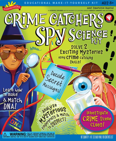 Educational Crime Catchers Spy Science Kit Scientific Explorer