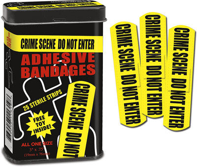 Crime Scene Do Not Enter Bandages: 25 Sterile Strips