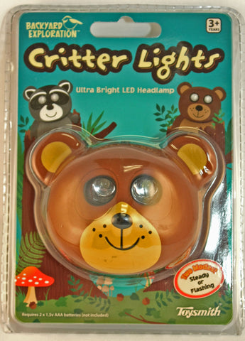 Bear Critter Light Headlamp By Toysmith