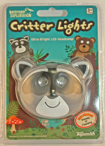Raccoon Critter Light Headlamp By Toysmith