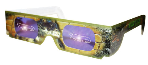 Holographic Crocodile Wild Eyes 3D Paper Glasses