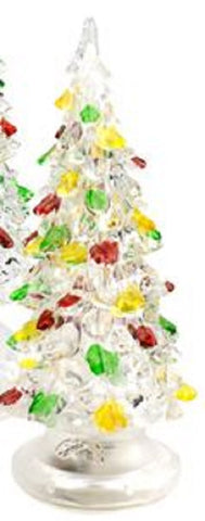 Crystal Acrylic LED Christmas Tree - 5.75 Inches
