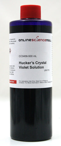 Huckers Crystal Violet Solution w/Ammonium Oxalate, 500mL - Chemical Reagent