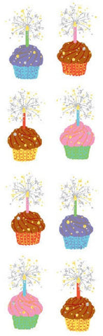 Mrs Grossman's Stickers - Cupcakes - Foil Accent