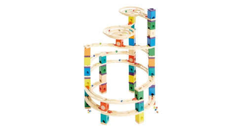 Quadrilla Marble Run The Cyclone  By Hape - 198 Pieces