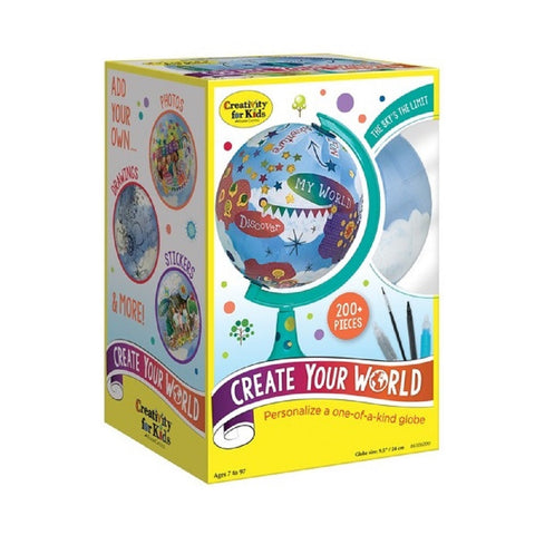 Creativity for Kids - Create Your World Globe Art Kit by Faber-Castell